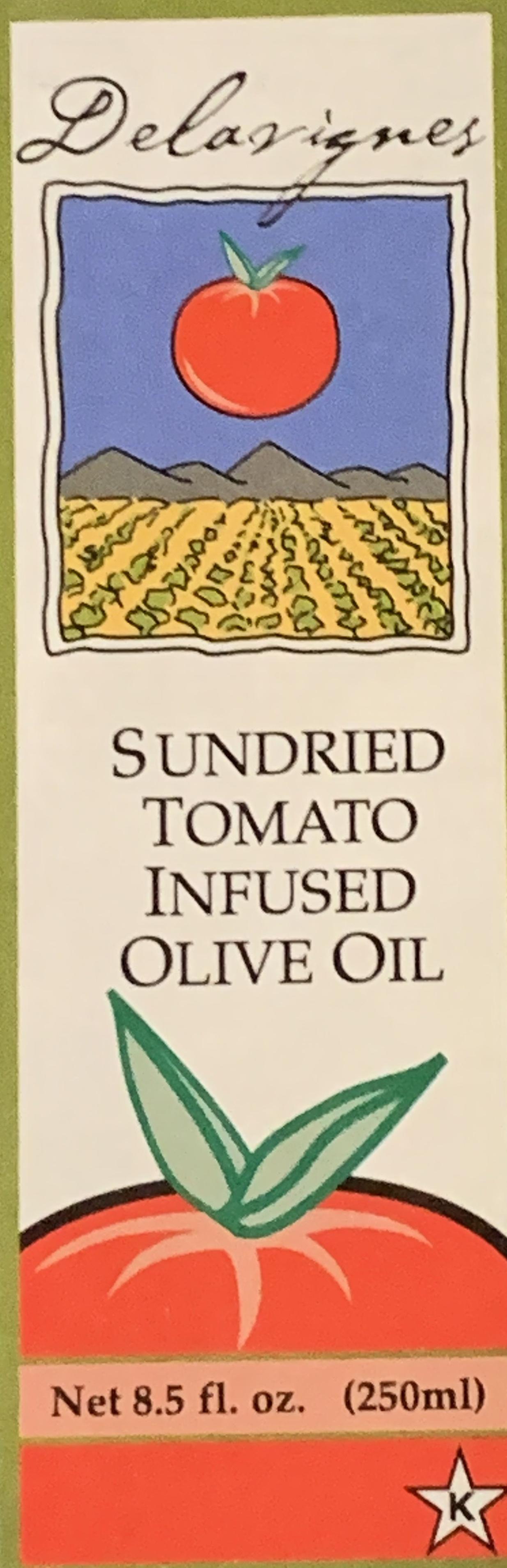 Delavignes Sun Dried Tomato Infused Olive Oil